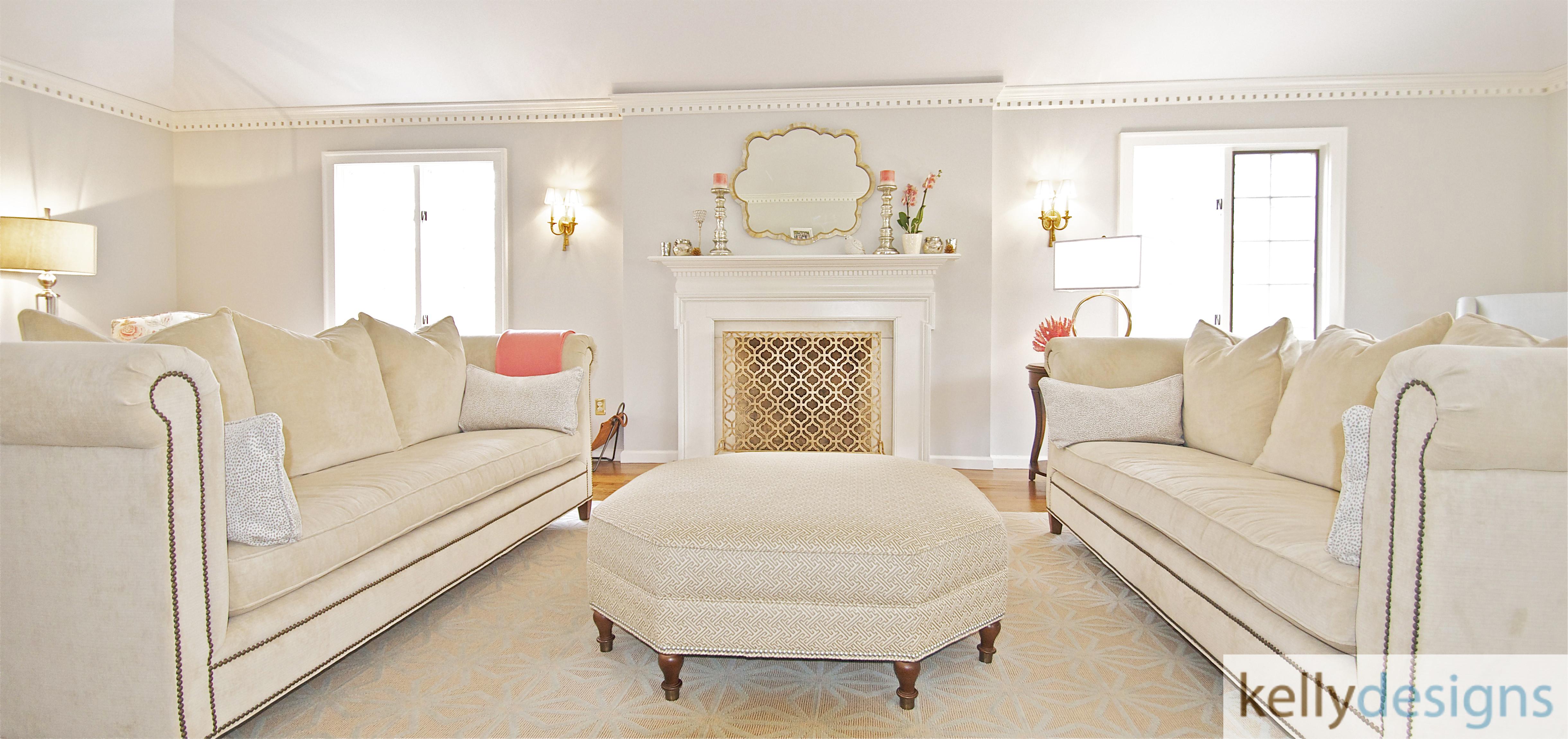 Fairfield Living Room Renovation - Interior Design by kellydesigns