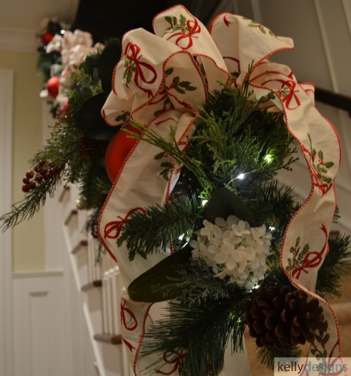 Holiday & Event Decorating By  kellydesigns -  Stairwell Ribbon