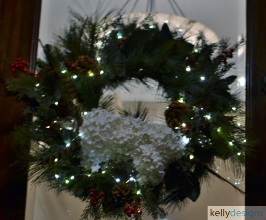 Holiday & Event Decorating By  kellydesigns -  Christmas Wreath With Snow