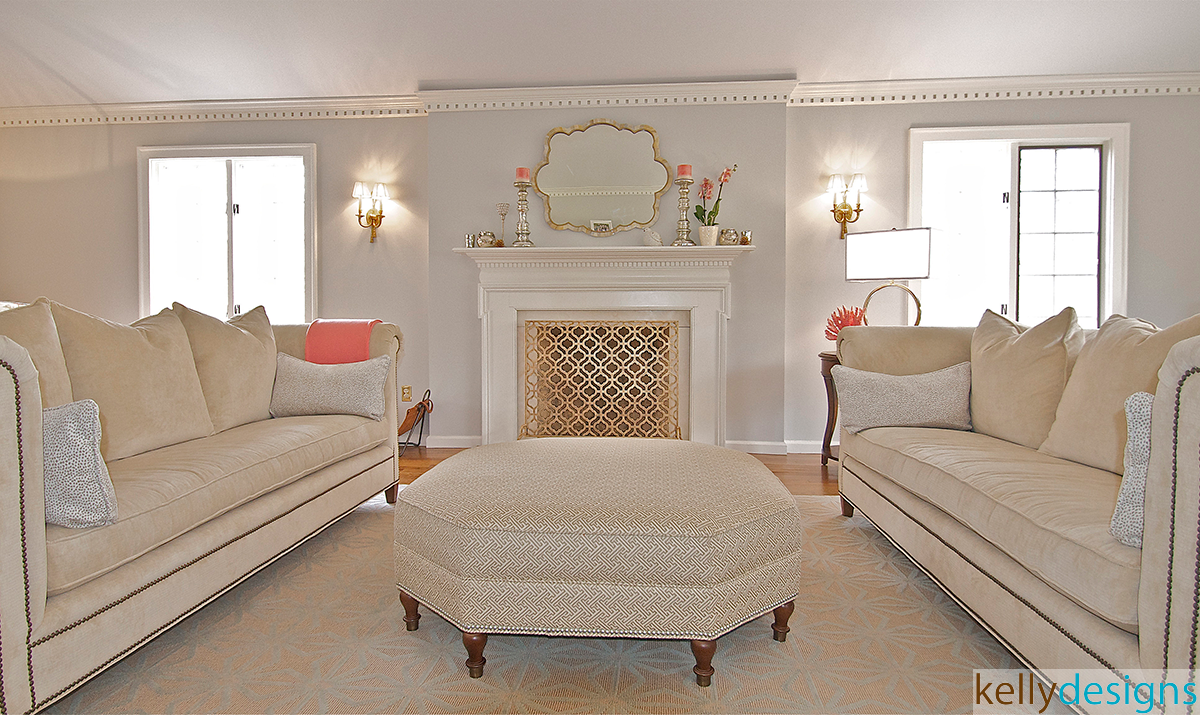 Ivory Living Room -  Interior Design by kellydesigns