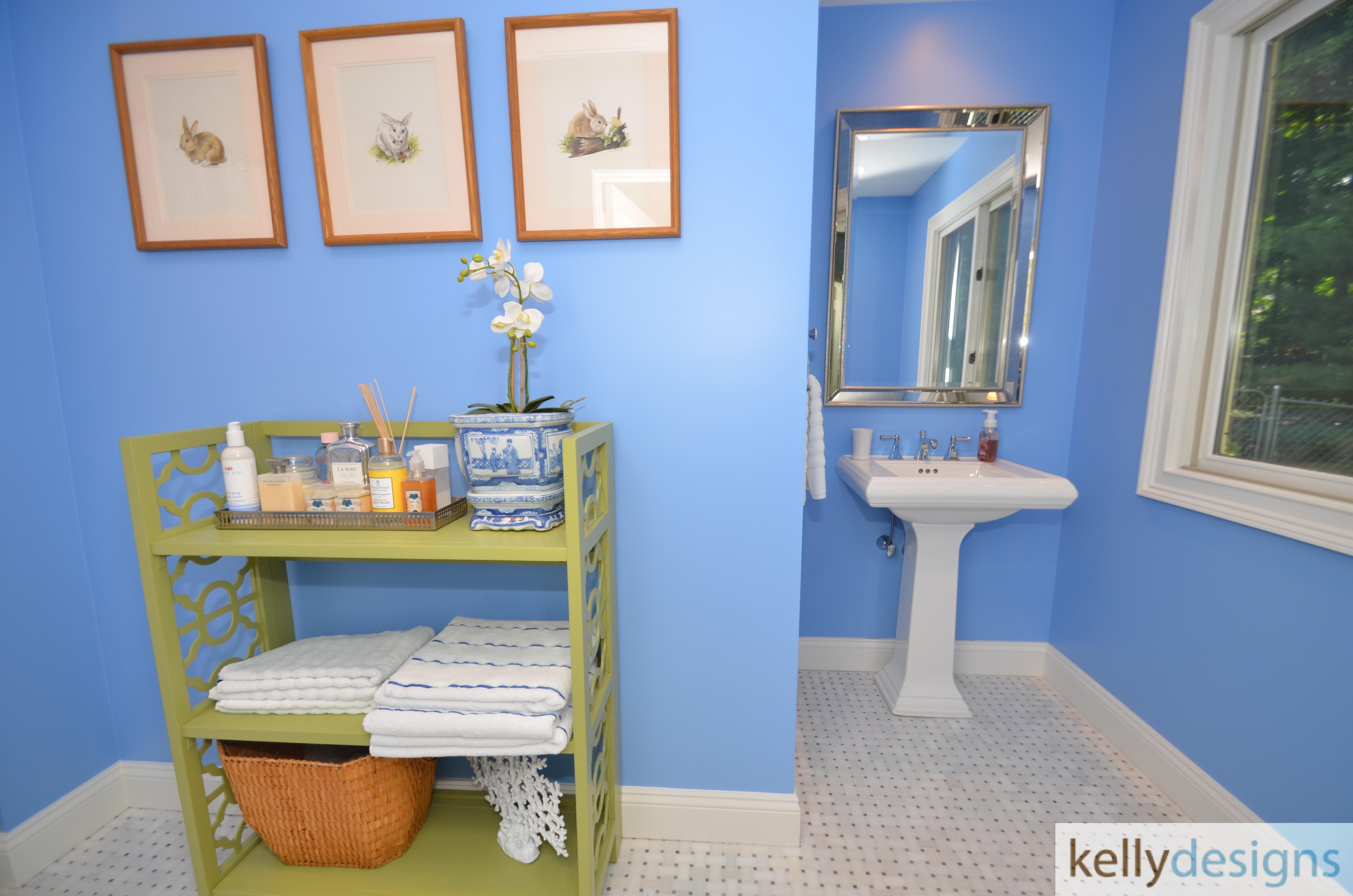 Preppy With A Purpose Bathroom Interior Design By Kellydesigns