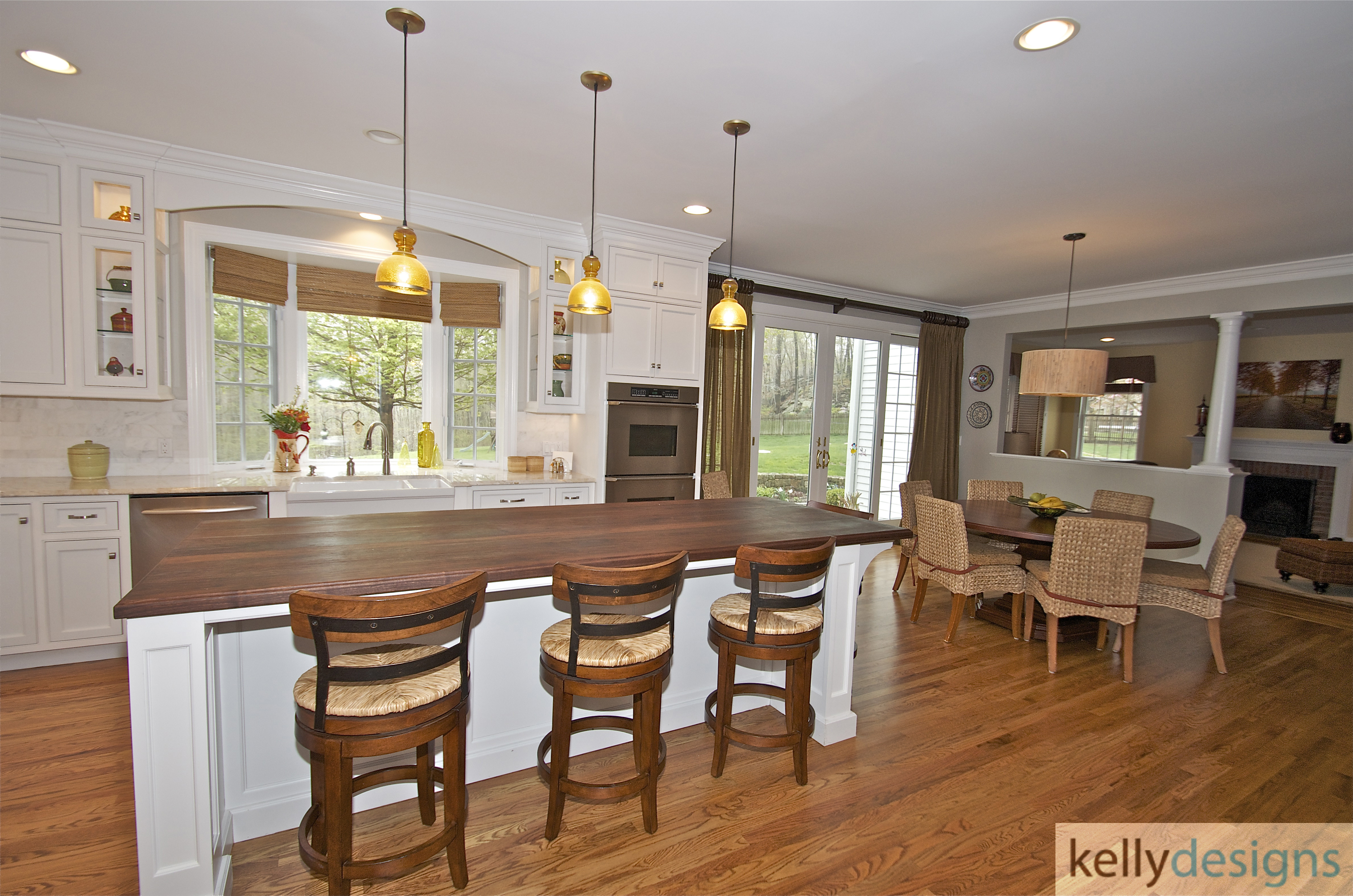 Pound Ridge Renovation   Kitchen   Interior Design By Kellydesigns