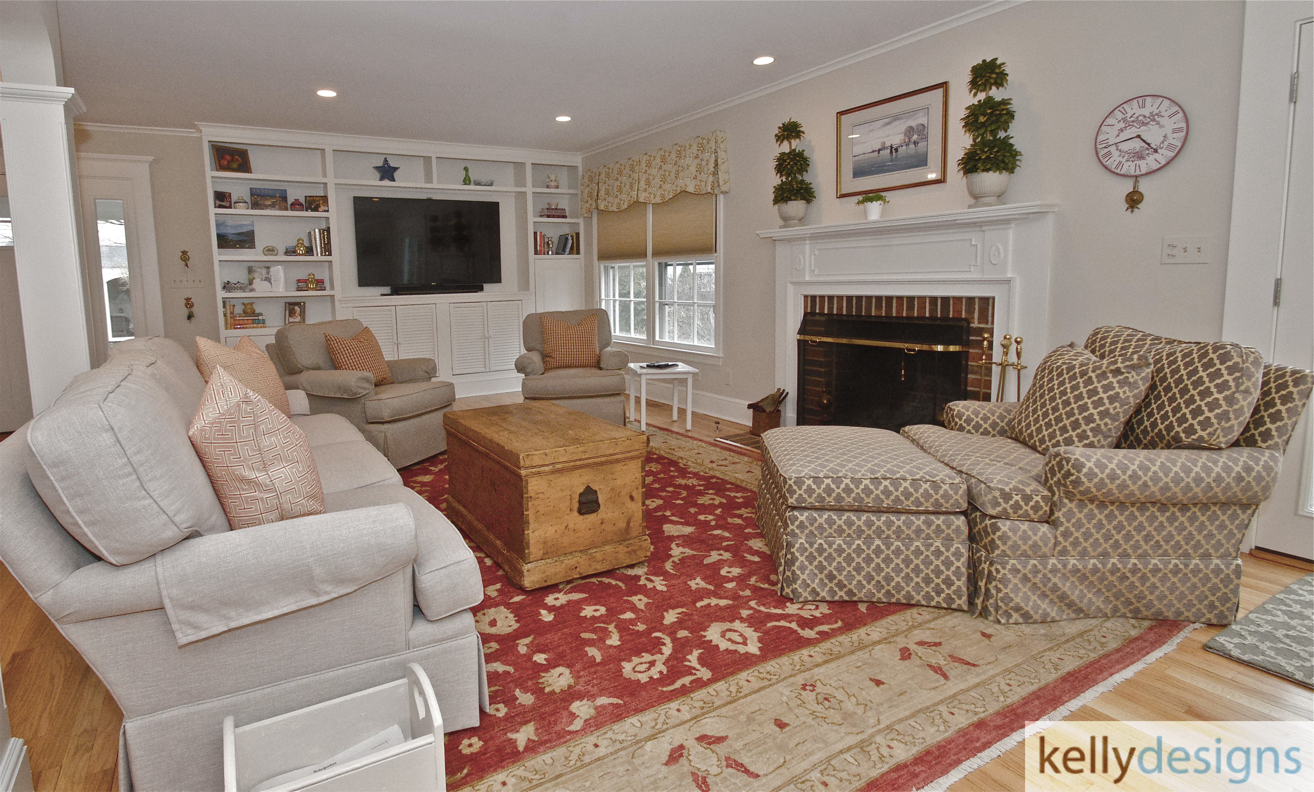 Stunning On Sturges   Family Room    Interior Design By Kellydesigns