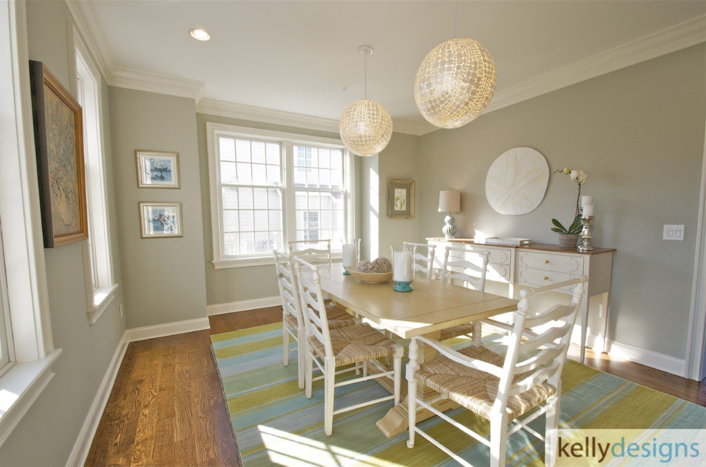 Fairfield Beach Complete ReBuild - Dining Room - Interior Design by kellydesigns