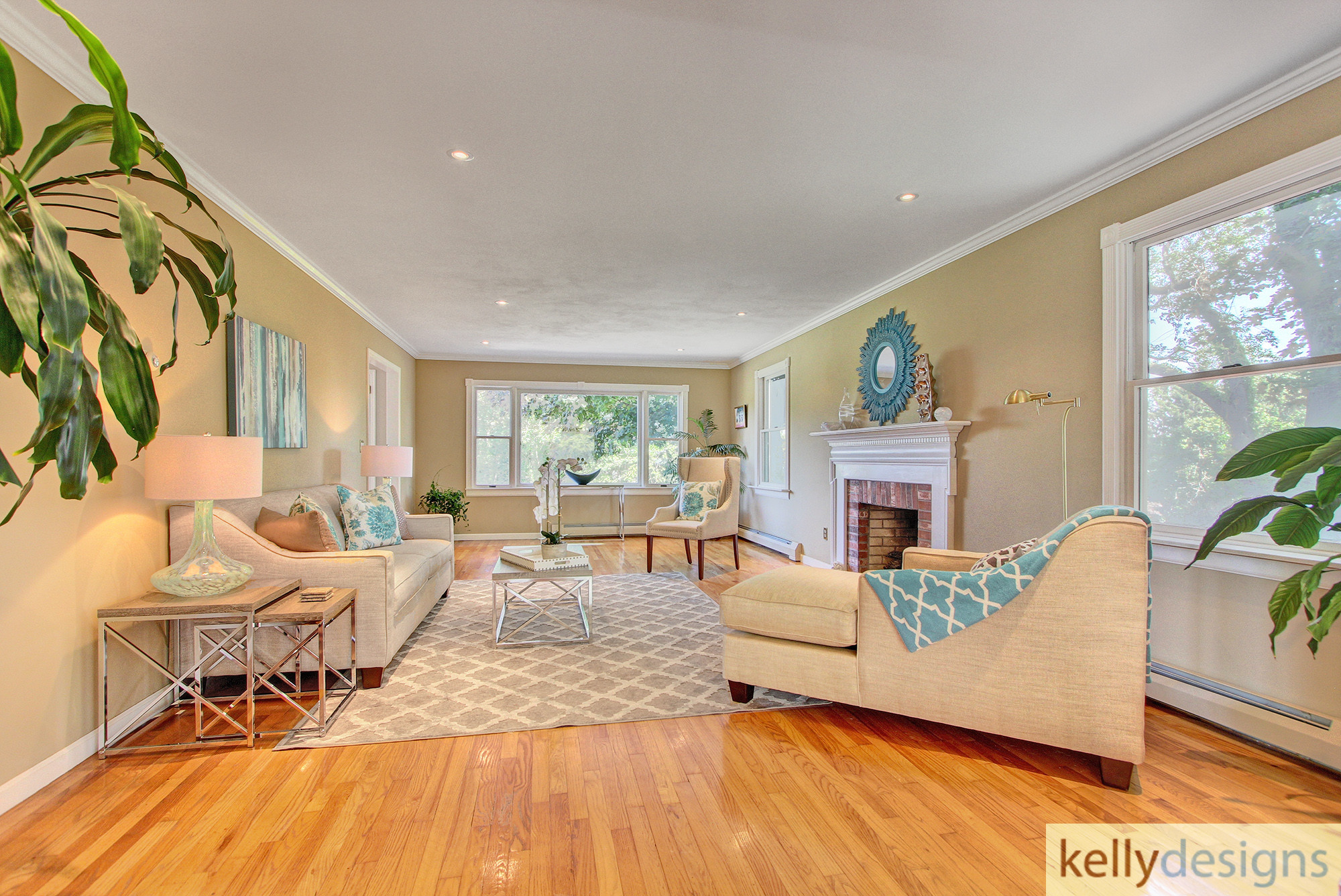 Living Room - Fulling Mill Staging  - Home Staging by kellydesigns