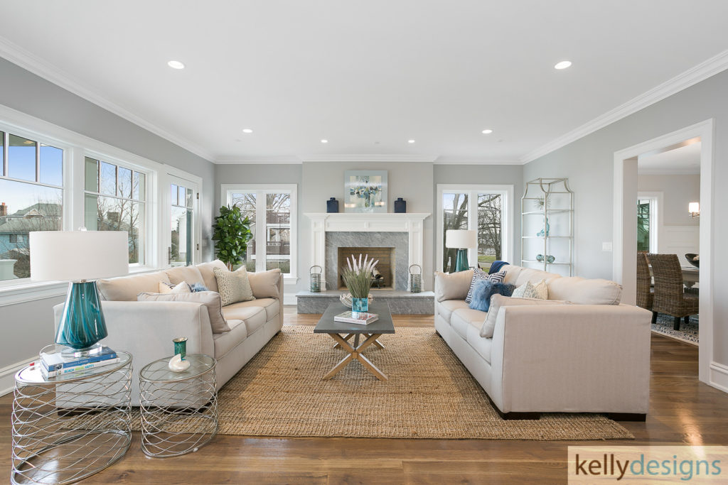 Living Room - Bountiful Beach Beauty - Home Staging by kellydesigns, LLC