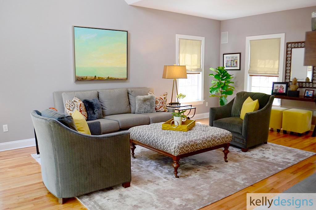 Easton Easy & Elegant - Family Room - Interior Design by kellydesigns