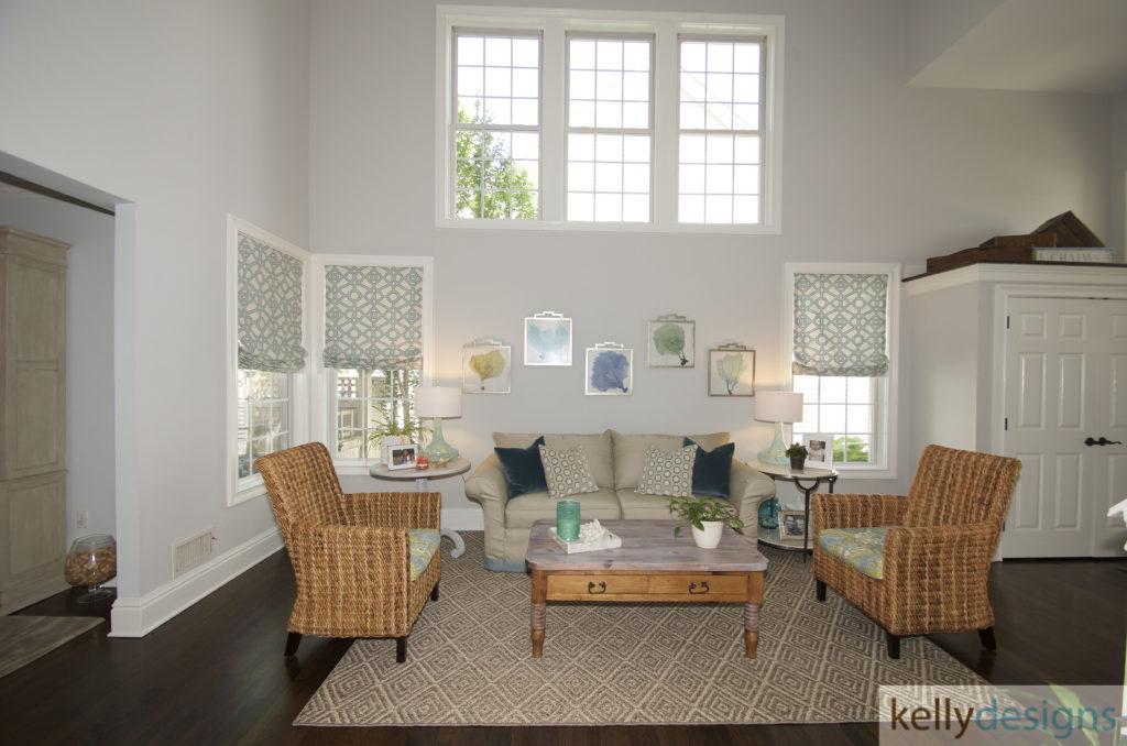Coastal Cutie - Living Room - Interior Design by kellydesigns/