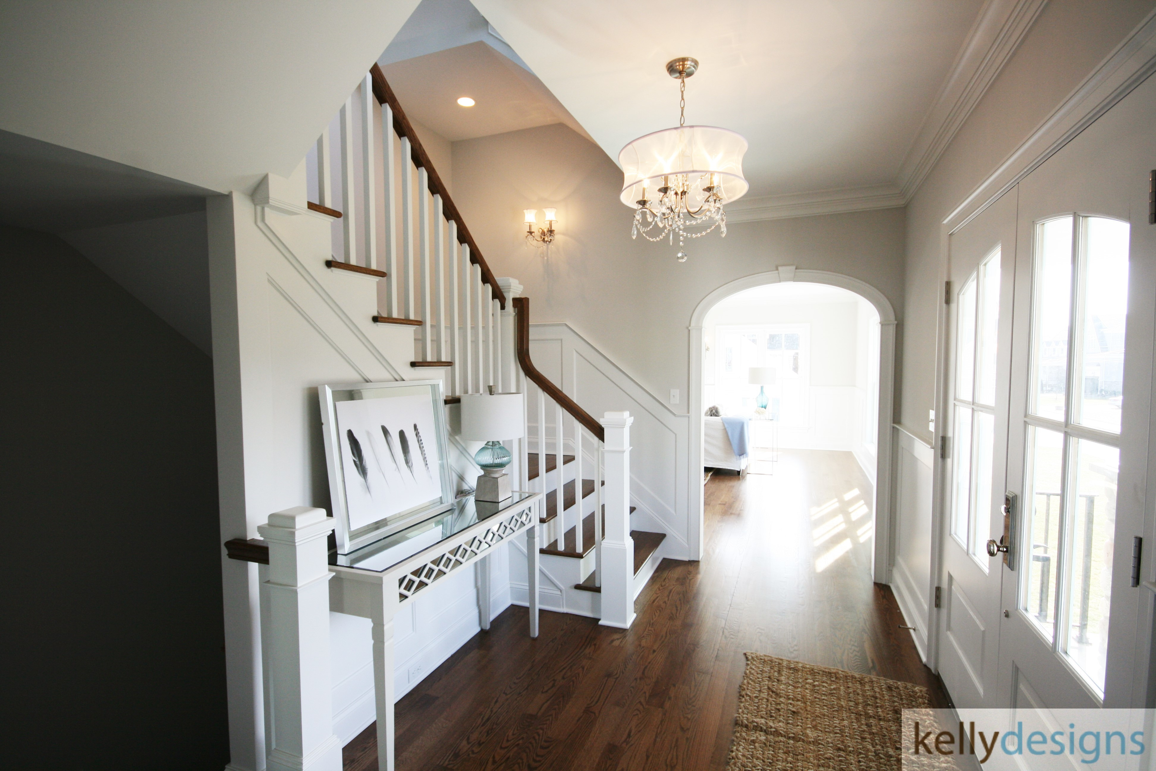 Rockin It On Rowland Staging   Front Hall   Home Staging By Kellydesigns