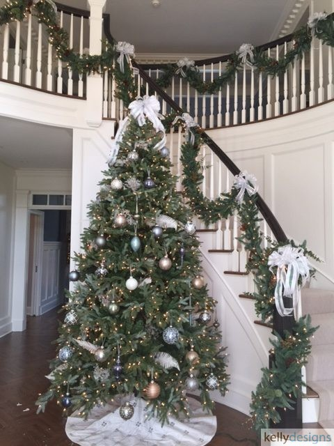 Holiday & Event Decorating By kellydesigns - Christmas Tree & Stairwell