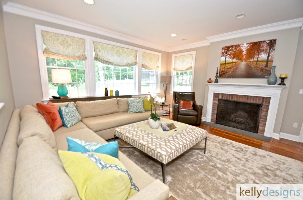 Pound Ridge Family Room - Interior Design by kellydesigns
