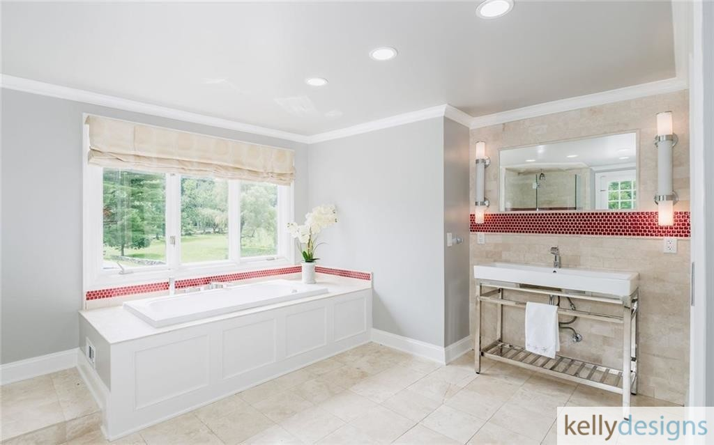 READY On Redding - Master Bathroom - Home Staging by kellydesigns