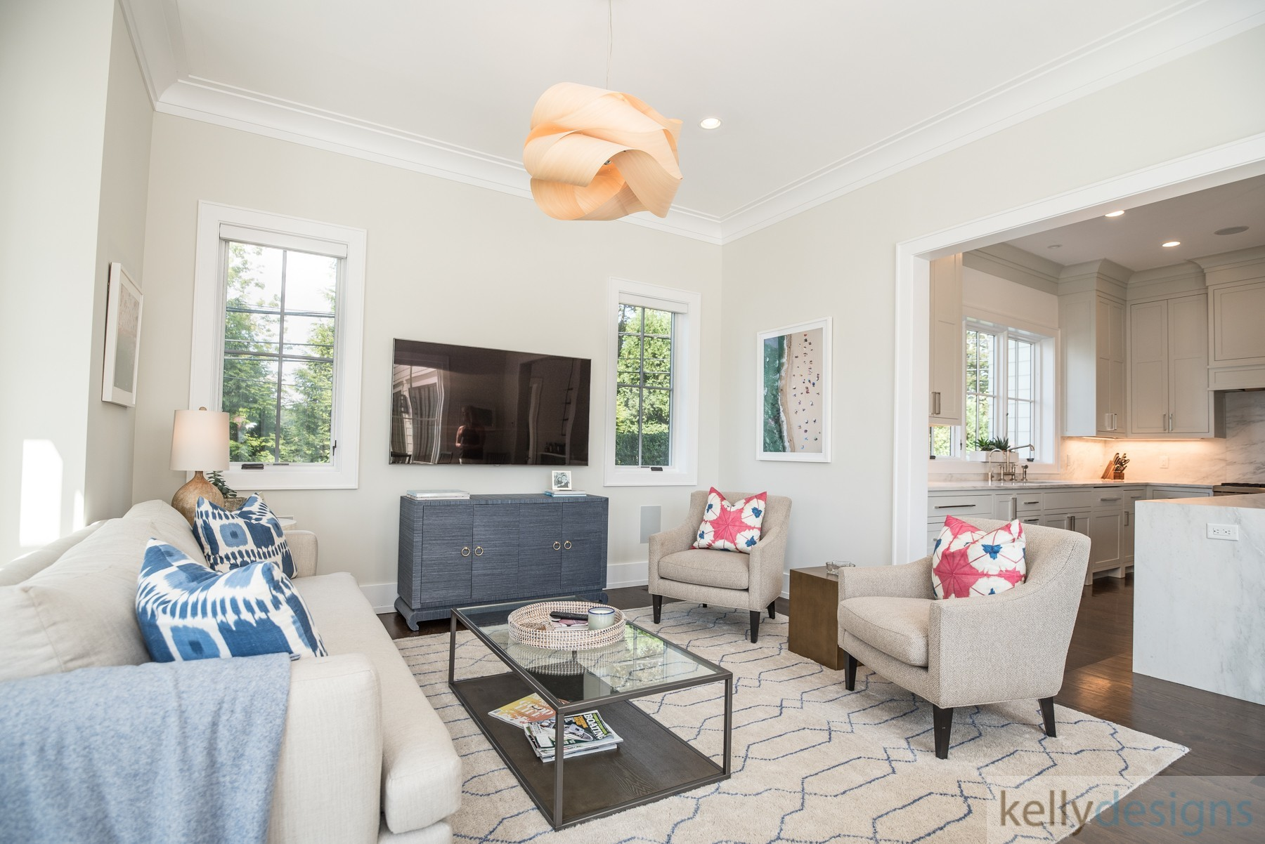 Brush Island Family Room - Interior Design By kellydesigns