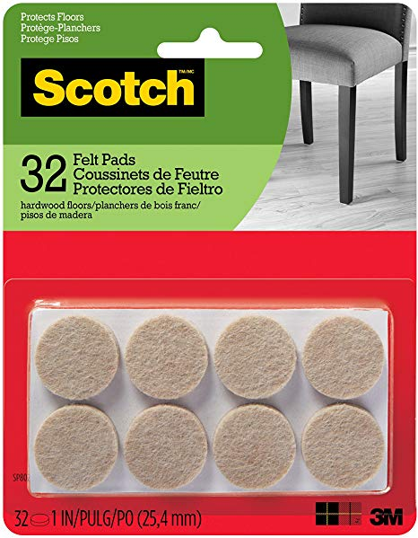 Scotch Mounting, Fastening & Surface Protection SP802-NA Felt Pads Premium Quality